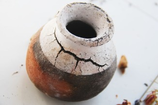 pit-fired locally harvested clay.