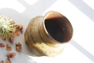 wood ash vase.